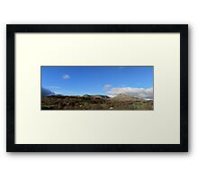 Coniston Mountain Range Panorama Framed Print