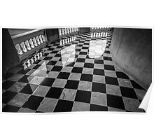 checkered marble floor Poster