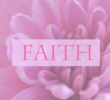 Faith In Pink  Sticker