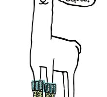 Doodle squee llama knitting crochet socks Christmas by BigMRanch