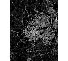 Fort Worth map Texas Photographic Print
