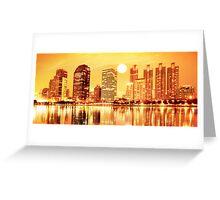 sunset panorama scenes of city Greeting Card