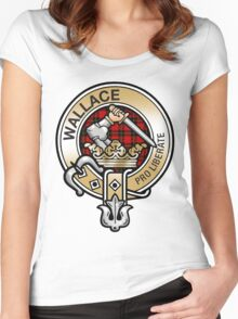 Wallace Clan Crest Women's Fitted Scoop T-Shirt