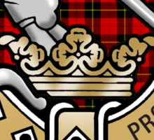 Wallace Clan Crest Sticker