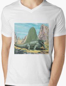 Dimetrodon Mens V-Neck T-Shirt
