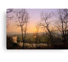 "Sunset at ""Pai"" river Canvas Print"