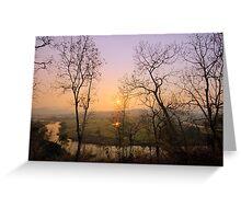 "Sunset at ""Pai"" river Greeting Card"