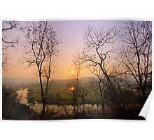 "Sunset at ""Pai"" river Poster"