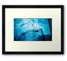 city in the mirror Framed Print