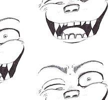 Scary Dark Evil Face by InnovationWorks