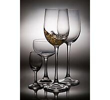 splashing wine Photographic Print
