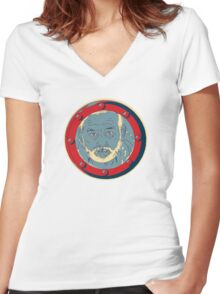 """Bill Porthole  - """"hope"""" Women's Fitted V-Neck T-Shirt"""