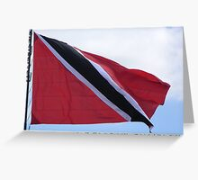 National Flag Flying Greeting Card