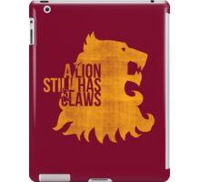 A Lion Still Has Claws iPad Case/Skin
