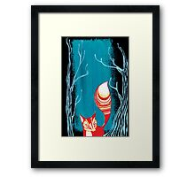 Woodland Fox Framed Print