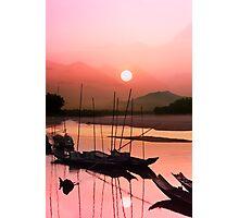 Sunset at Mae Khong Photographic Print