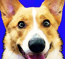 Corgi Art - Im So Excited by Sharon Cummings