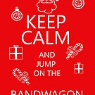Fun keep calm holiday greeting card - tongue in cheek by Moonlake