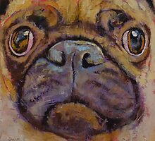 In Your Face Pug by Michael Creese