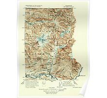 USGS Topo Map Washington State WA Mt Baker 242614 1915 250000 Poster