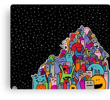 Pile of Monsters Canvas Print