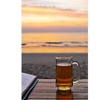 Beach and beer Photographic Print