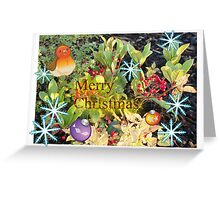 Christmas berries card Greeting Card