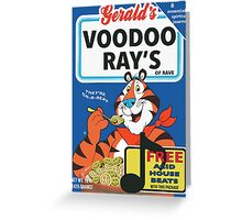 VOODOO RAY'S CEREAL BOX Greeting Card
