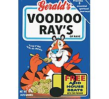 VOODOO RAY'S CEREAL BOX Photographic Print