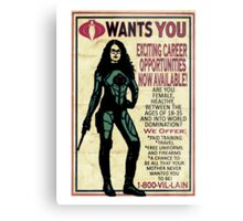 Cobra Recruiting poster Featuring the Baroness (G.I. Joe) Metal Print