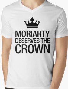 MORIARTY DESERVES THE CROWN (black type) Mens V-Neck T-Shirt