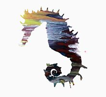 Abstract colorful seahorse painting Unisex T-Shirt