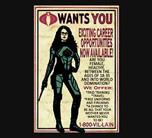 Cobra Recruiting poster Featuring the Baroness (G.I. Joe) T-Shirt