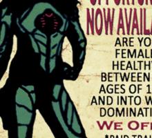 Cobra Recruiting poster Featuring the Baroness (G.I. Joe) Sticker