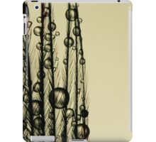 Charcoal Feather Drops iPad Case/Skin