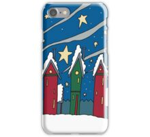 winter holiday town iPhone Case/Skin