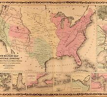 Johnson's New Illustrated Military United States Map (1862) by allhistory