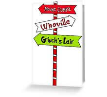 Whoville signs Greeting Card