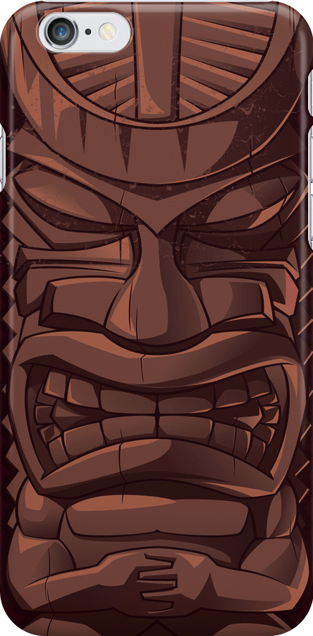Wooden Tiki Statue Totem Sculpture iPhone 5 / iPhone 4 Case / Samsung Galaxy Cases  by CroDesign