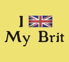 I <3 My Brit (black text) Kids Clothes