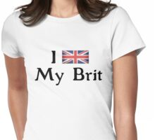 I <3 My Brit (black text) Womens Fitted T-Shirt