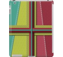 Fabric Stitching Quilted Look iPad Case iPad Case/Skin
