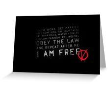 I am Free ( V for Vendetta ) Greeting Card