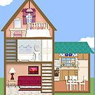 Doll House iPad Case by Cherie Balowski