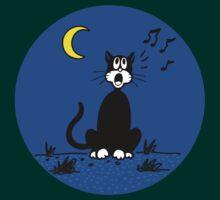 Serenading Backyard Cat by dukepope