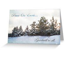 Peace On Earth card Greeting Card