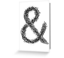 Ampersand Greeting Card