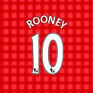 Rooney Style Man United Shirt by Aaron Pacey