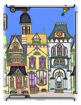 City Sidewalk iPad Case by Cherie Balowski