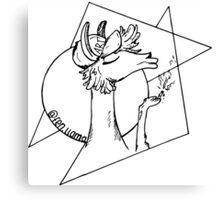 fennel the llama Canvas Print